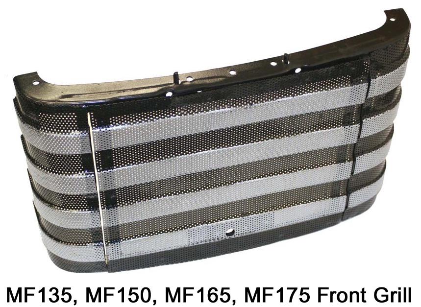 Massey Ferguson Grill : Massey ferguson hood and grill parts from restoration